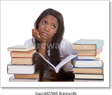 black-college-student-woman-by-stack-of-books